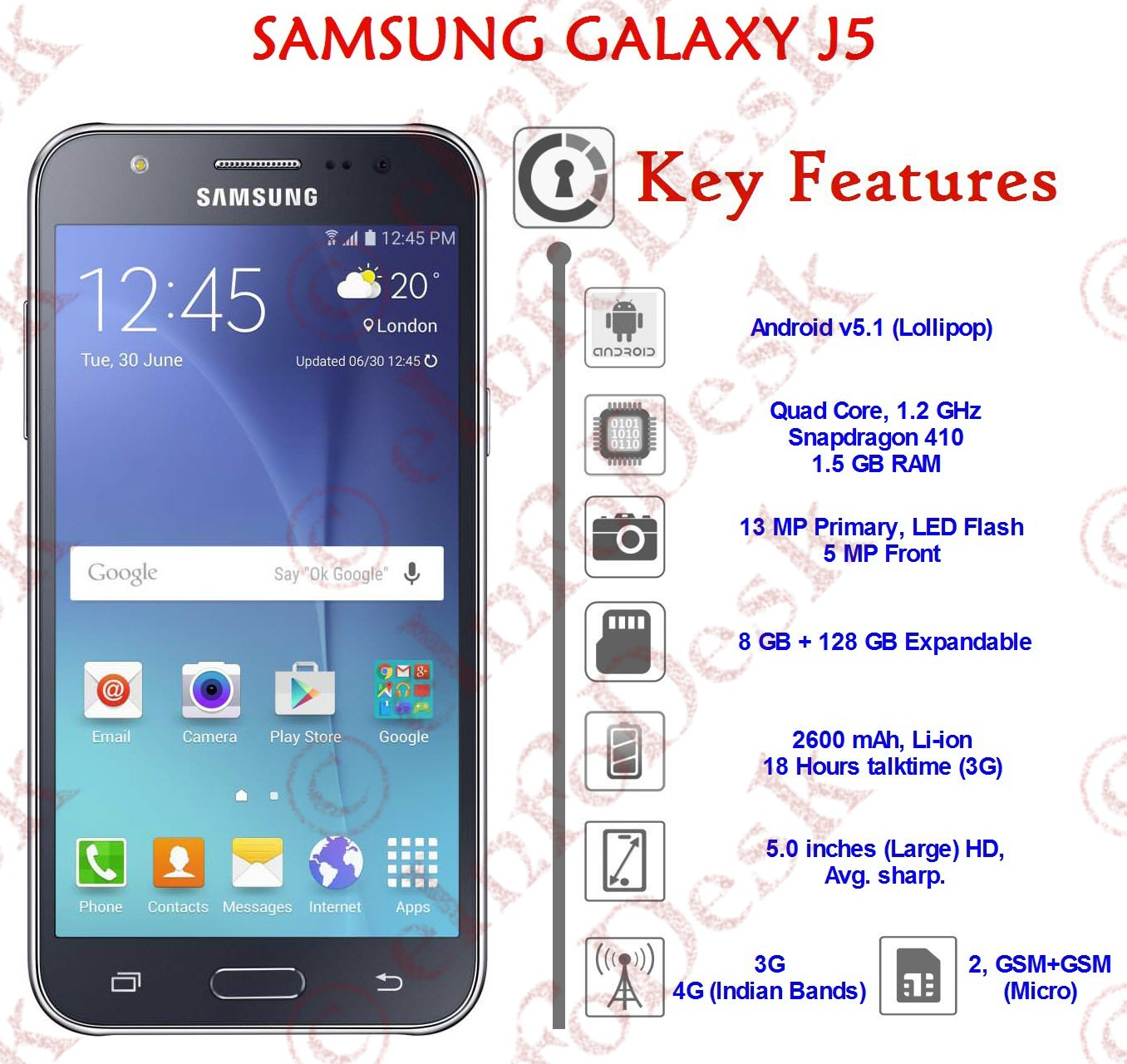 samsung galaxy j5 2016 seen in benchmark with specifications reviewz buzz. Black Bedroom Furniture Sets. Home Design Ideas